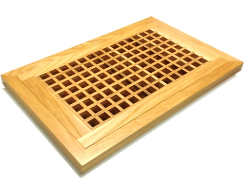 Egg Crate Flush Mount Hickory Floor Grate Vents