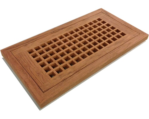 Egg Crate Flush Mount Jatoba Floor Grate Vents