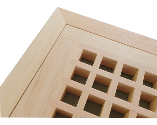 Egg Crate Flush Mount White Pine Floor Grate Vents