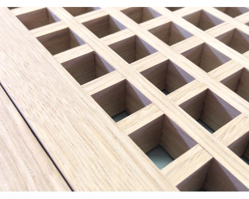 Egg Crate Flush Mount 1/4 Sawn White Oak Floor Grate Vents