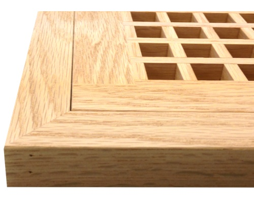 Egg Crate Flush Mount Red Oak Floor Grate Vents
