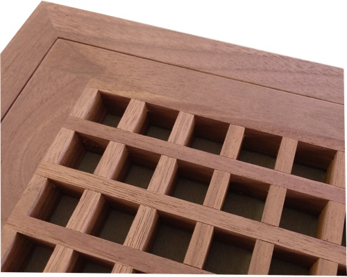 Egg Crate Flush Mount Black Walnut Floor Grate Vents