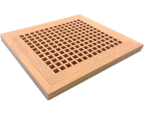 White Oak Egg Crate Grates And Grills Flush Mount Wood Floor Vent