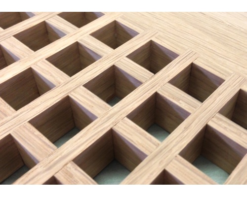 Egg Crate Flush Mount White Oak Floor Grate Vents