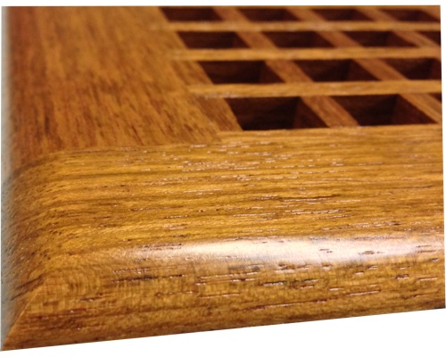 Egg Crate Self Rimming Jatoba Floor Grate Vents