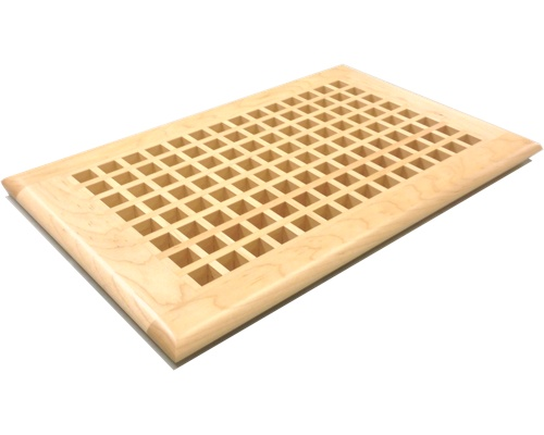 Egg Crate Self Rimming Maple Floor Grate Vents