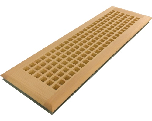 Egg Crate Self Rimming White Pine Floor Grate Vents