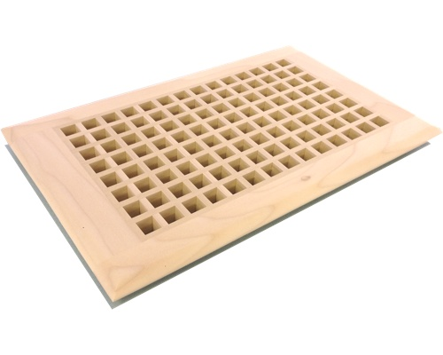 Egg Crate Self Rimming Poplar (Paint Grade) Floor Grate Vents