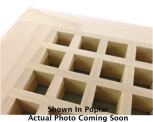 Egg Crate Self Rimming 1/4 Sawn White Oak Floor Grate Vents