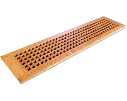 Egg Crate Self Rimming Red Oak Floor Grate Vents