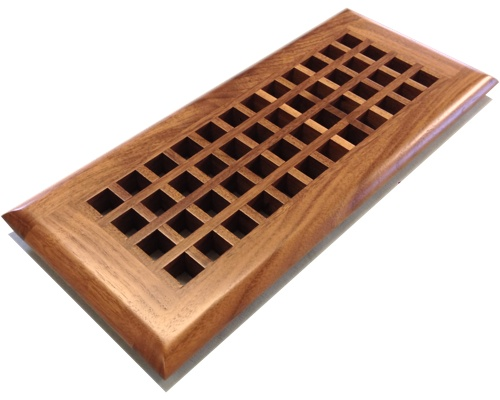 Egg Crate Self Rimming Black Walnut Floor Grate Vents