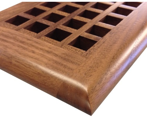 Egg Crate Self Rimming Black Walnut Floor Grate Vents - Click Image to Close