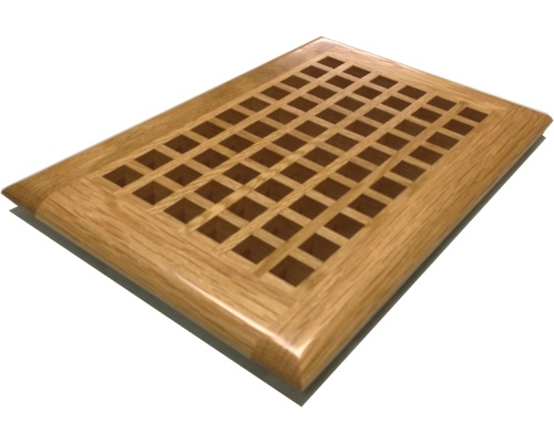 Egg Crate Self Rimming White Oak Floor Grate Vents