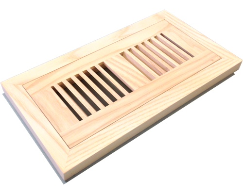 Flush Mount Ash Wood Floor Vents