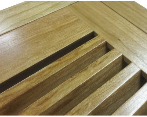 Flush Mount Cherry Wood Floor Vents