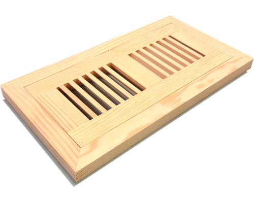 Flush Mount Fir Wood Floor Vents - Click Image to Close