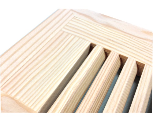 Flush Mount Fir Wood Floor Vents