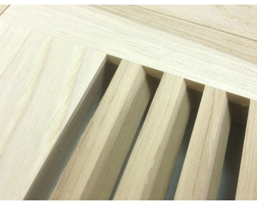 Flush Mount Hickory Wood Floor Vents