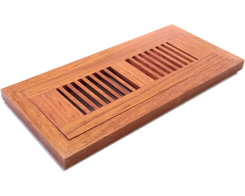 Flush Mount Brazillian Cherry (Jatoba) Wood Floor Vents