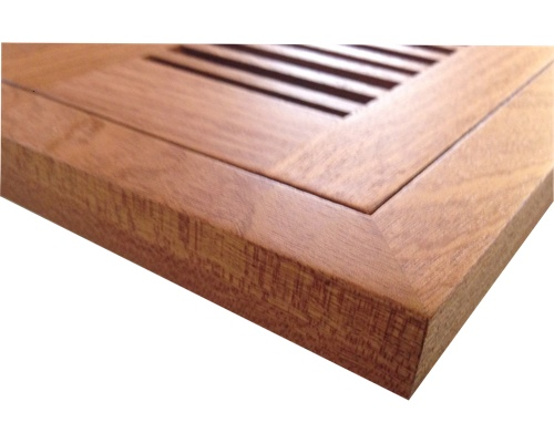 Flush Mount Sapele Mahogany Wood Floor Vents