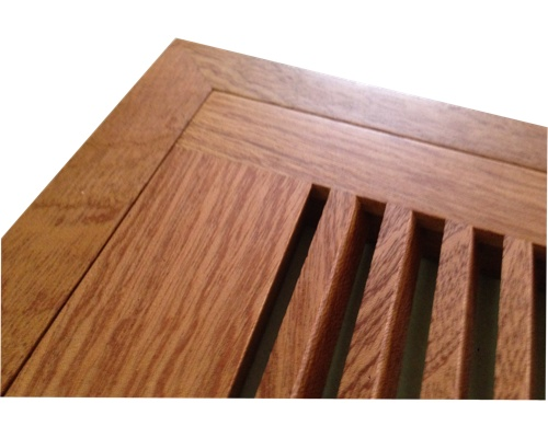 Flush Mount Sapele Mahogany Wood Floor Vents - Click Image to Close
