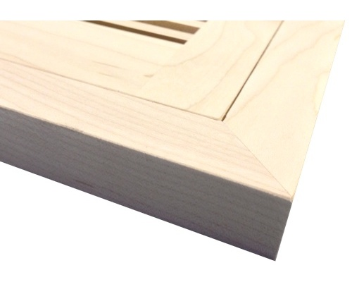 Flush Mount Maple Wood Floor Vents