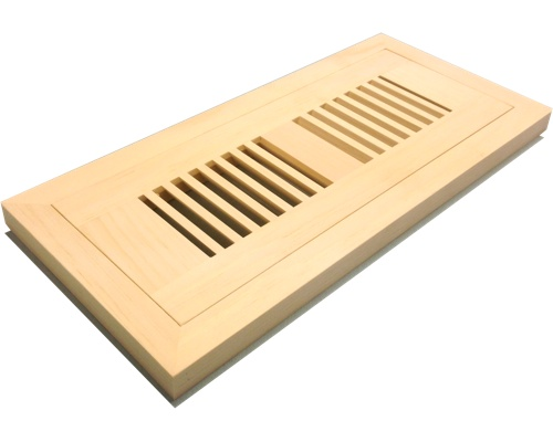 Flush Mount White Pine Wood Floor Vents
