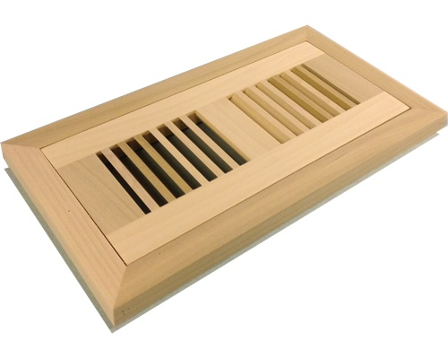 Flush Mount Poplar (Paint Grade) Wood Floor Vents