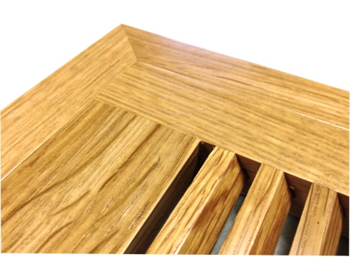 Flush Mount 1/4 Sawn White Oak Wood Floor Vents