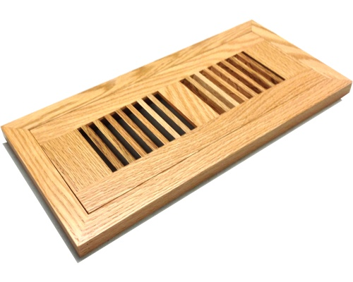 Flush Mount Red Oak Wood Floor Vents