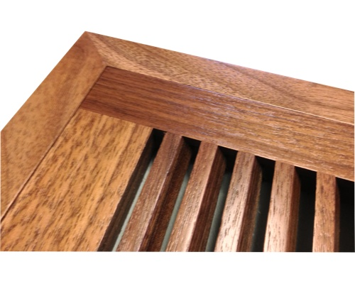 Flush Mount Black Walnut Wood Floor Vents