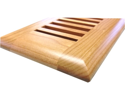 Self Rimming Cherry Wood Floor Vents - Click Image to Close