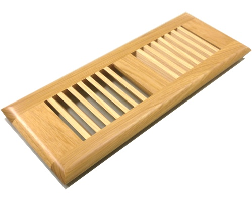 Self Rimming Hickory Wood Floor Vents