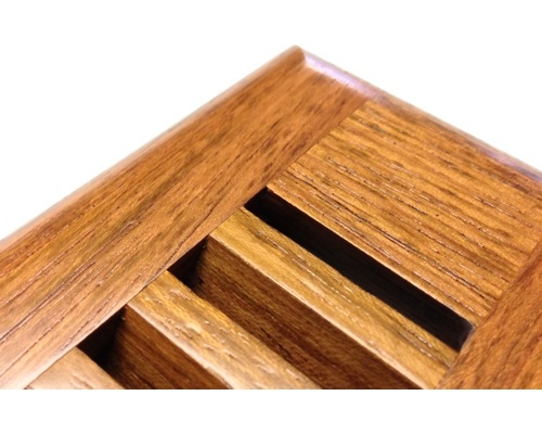 Self Rimming Brazillian Cherry (Jatoba) Wood Floor Vents
