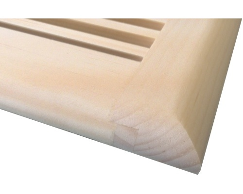 Self Rimming White Pine Wood Floor Vents