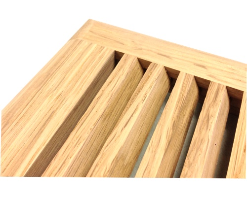 Self Rimming 1/4 Sawn White Oak Wood Floor Vents