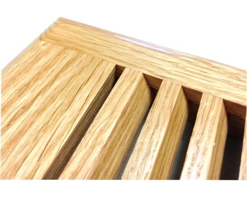 Self Rimming Red Oak Wood Floor Vents