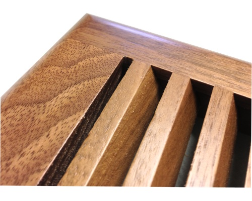 Self Rimming Black Walnut Wood Floor Vents