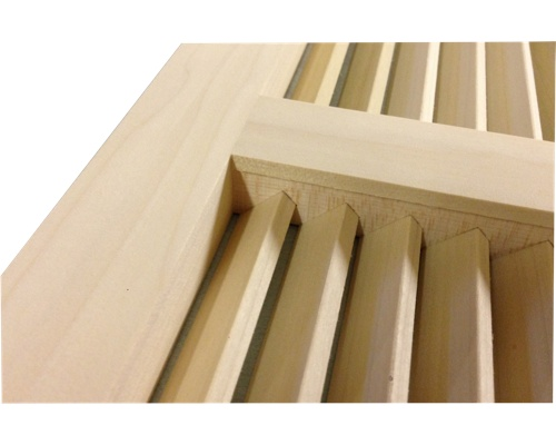 Wall Mount Return Vent Poplar (Paint Grade)