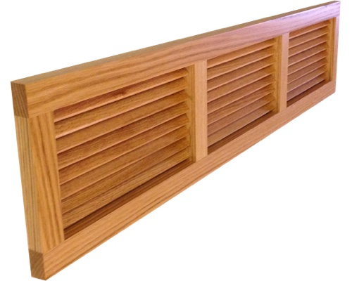 Wall Mount Return Vent Red Oak