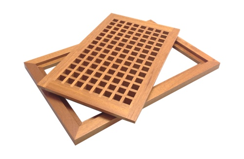 Fretworks Wood Products is pleased to offer a line of pre finished and un  finished Wood Floor Vents also known as ... - Wood Floor Vents, Registers, Grilles And Grates, Wood Floor Vents